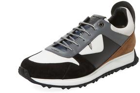 Fendi Men's Metallic Trainer Sneaker