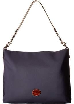 Dooney & Bourke Nylon Extra Large Courtney Sac Handbags - BLACK W/ TAN TRIM - STYLE