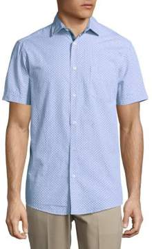 Report Collection Printed Casual Button-Down Cotton Shirt