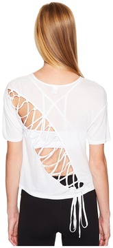 Alo Entwine Short Sleeve Top Women's Clothing