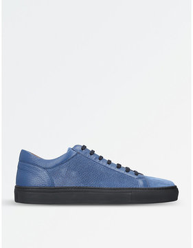 Stemar Perforated leather trainers