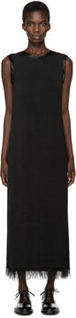 Calvin Klein Collection Black Fringed Gaia Dress