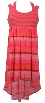 Bonnie Jean Girls 7-16 Striped Knit High-Low Hem Dress