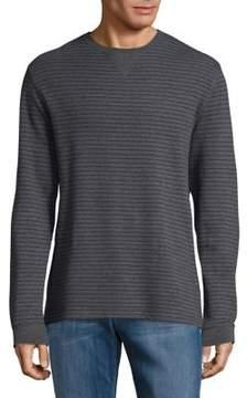 Black & Brown Black Brown Cotton Stripe Sweatshirt