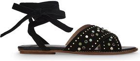 Maje Feminy suede sandals