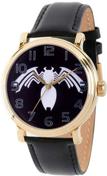 Marvel Spiderman Mens Black Strap Watch-Wma000219