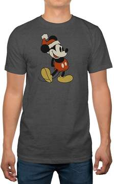 Disney Big & Tall Disney's Mickey Mouse Santa Holiday Tee