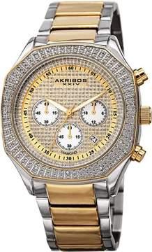 Akribos XXIV Gold Dial Chronograph Men's Watch