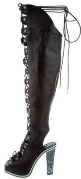 Rodarte Lace-Up Over-The-Knee Boots w/ Tags