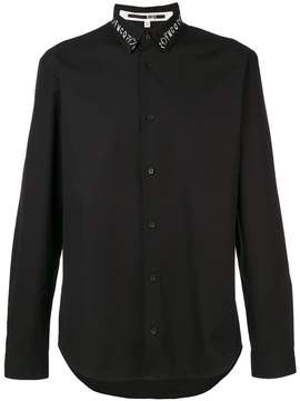 McQ embroidered neck shirt