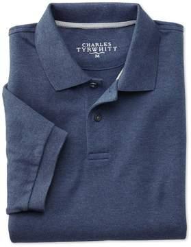 Charles Tyrwhitt Indigo Pique Cotton Polo Size Large
