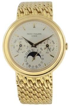 Patek Philippe Perpetual Calendar Moonphase 18K Yellow Gold Mens Watch