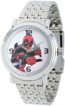 Marvel Mens Deadpool Sword Silver-Tone Stainless Steel Bracelet Watch