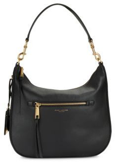 Marc Jacobs Recruit Leather Hobo Bag - MINK - STYLE