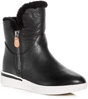 Gentle Souls Women's Hazel-Levitt Leather & Shearling Sneaker Booties