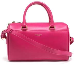 Saint Laurent Classic Duffle 6 Leather Bag - PINK & PURPLE - STYLE