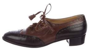 Hermes Leather Brogue Oxfords