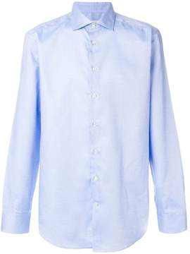 Etro dot print curved hem shirt