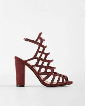 Express caged thick heeled sandals