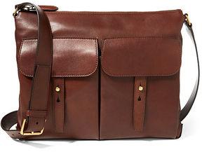 Ralph Lauren Calfskin Pocket Messenger Bag
