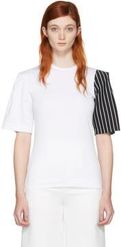 Facetasm SSENSE Exclusive White Striped Sleeve T-Shirt