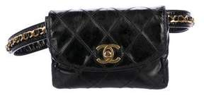 Chanel Vintage Quilted Belt Bag