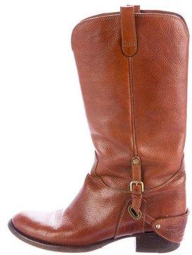 Ralph Lauren Purple Label Leather Mid-Calf Boots