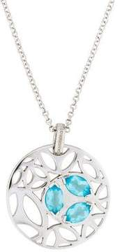 Di Modolo Blue Crystal Ricamo Small Pendant Necklace