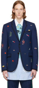 Gucci Blue Formal Monaco Blazer