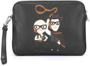 Dolce & Gabbana designers patch clutch