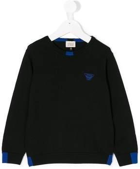 Emporio Armani Kids color block sweatshirt