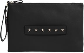 Stars Studded Medium Leather Clutch