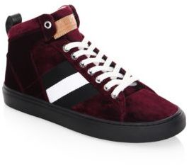 Bally Hedern Velvet High-Top Sneakers