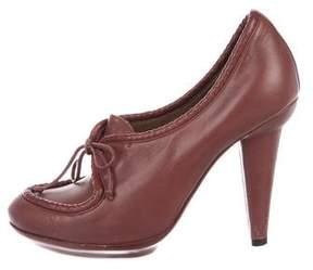 Bottega Veneta Leather Round-Toe Ankle Boots