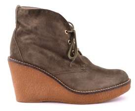 Serafini Women's Green Suede Ankle Boots.