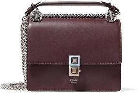 Fendi Kan I Mini Leather Shoulder Bag - Burgundy