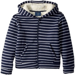 Toobydoo Fleece Lined Stripe Hoodie Boy's Sweatshirt