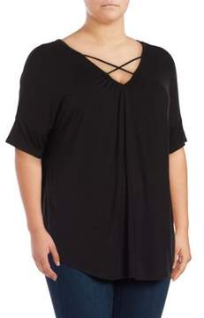 Context Plus Cross Strap Short Sleeved Top
