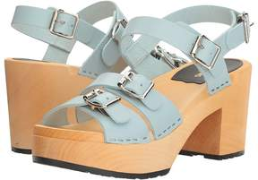 Swedish Hasbeens Buckle Sandal Women's Clog/Mule Shoes