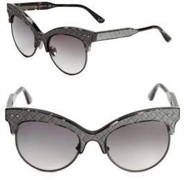 Bottega Veneta Gradient 52MM Clubmaster Sunglasses