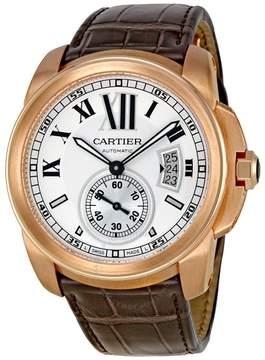 Cartier Calibre De Silver Dial Mechanical Men's Watch