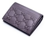 Gucci Women's Brown Leather Gg Supreme Canvas Card Case. - BROWN - STYLE