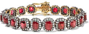 Amrapali 18-karat Gold, Spinel And Diamond Bracelet - Red