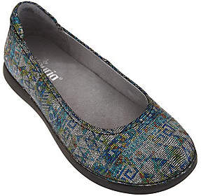 Alegria As Is Leather Slip-on Flats - Petal