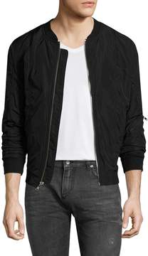 BLK DNM Men's Solid Zip Jacket