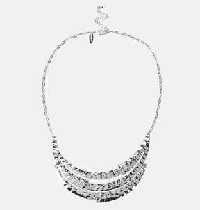 Avenue Hammered Layer Bib Necklace