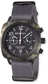 Briston Clubmaster Classic Chronograph Watch, Gray/Black