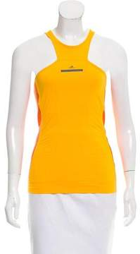adidas by Stella McCartney Mesh-Paneled Athletic Top