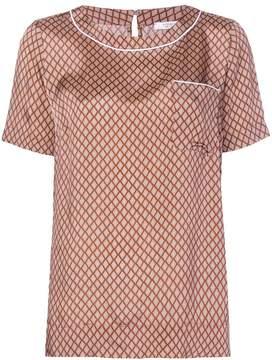 Peserico geometric pattern blouse