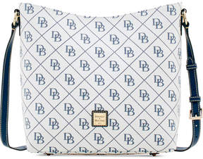 Dooney & Bourke Signature Quilted Small Hobo Crossbody, Created for Macy's - WHITE/MARINE - STYLE